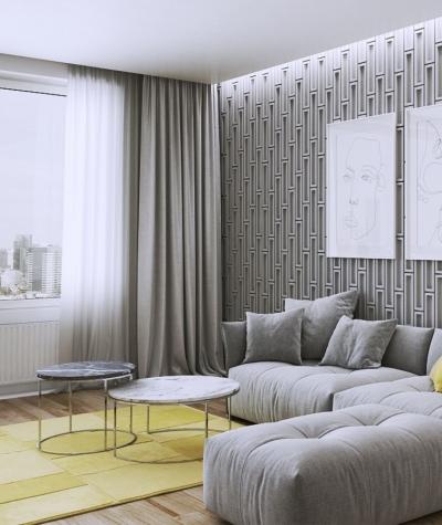 VT - PB52 (KS ivory) RECTANGLES - 3D decorative panel architectural concrete