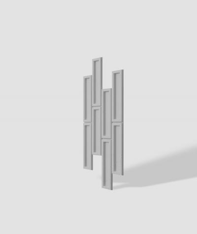 VT - PB52 (S95 jasno szary - gołąbkowy) CEGIEŁKA - Panel dekor 3D beton architektoniczny