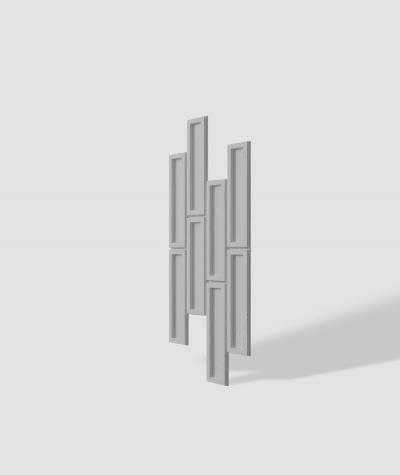VT - PB52 (S96 dark gray) RECTANGLES - 3D decorative panel architectural concrete