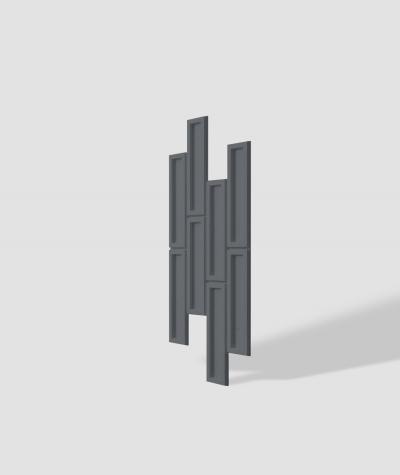 VT - PB52 (B8 antracyt) CEGIEŁKA - Panel dekor 3D beton architektoniczny