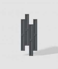 VT - PB52 (B15 black) RECTANGLES - 3D decorative panel architectural concrete