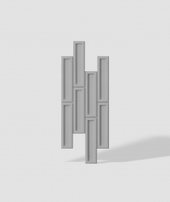 VT - PB52 (S51 dark gray - mouse) RECTANGLES - 3D decorative panel architectural concrete