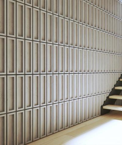 VT - PB51 (B15 czarny) CEGIEŁKA - Panel dekor 3D beton architektoniczny