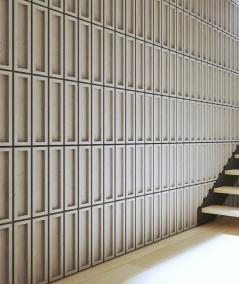 VT - PB51 (BS śnieżno biały) CEGIEŁKA - Panel dekor 3D beton architektoniczny