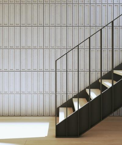 VT - PB51 (S51 dark gray - mouse) RECTANGLES - 3D decorative panel architectural concrete