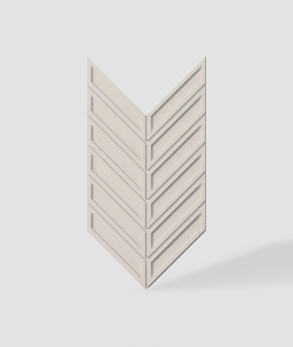 VT - PB50 (KS ivory) HERRINGBONE - 3D decorative panel architectural concrete