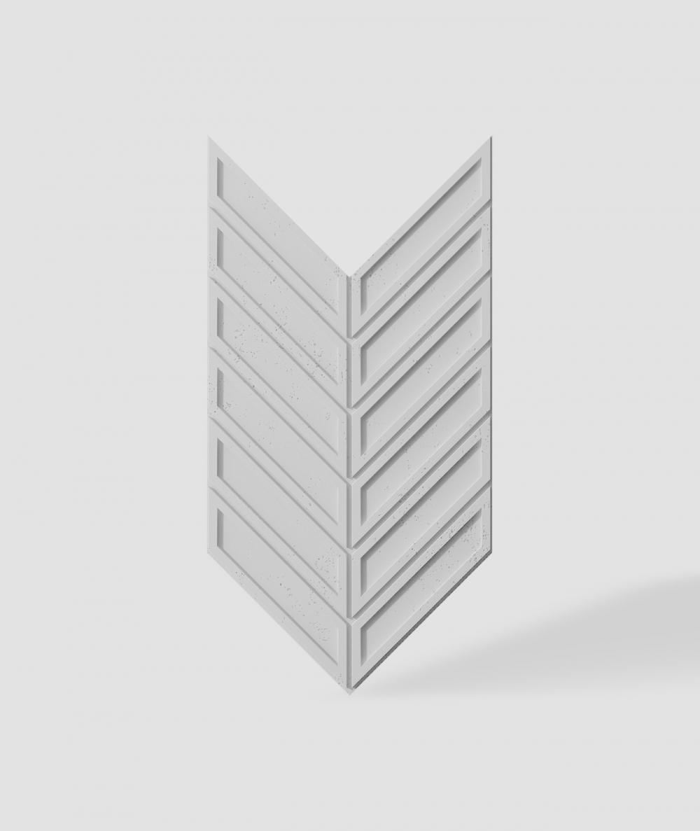 VT - PB50 (S50 light gray - mouse) HERRINGBONE - 3D decorative panel architectural concrete