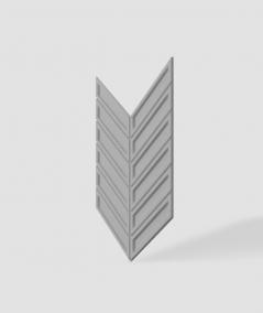 VT - PB50 (S51 dark gray - mouse) HERRINGBONE - 3D decorative panel architectural concrete