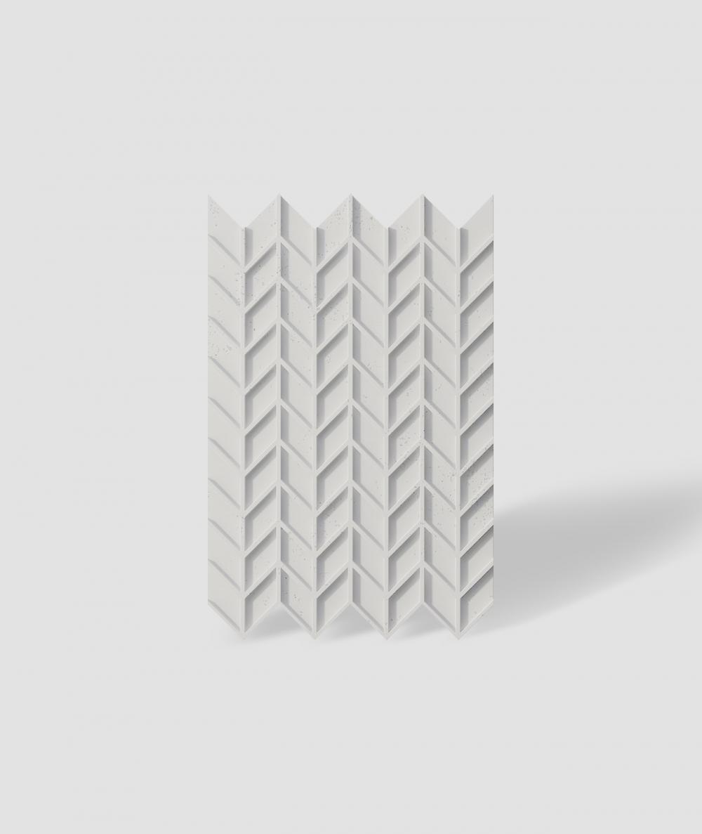 VT - PB49 (B0 white) HERRINGBONE - 3D decorative panel architectural concrete