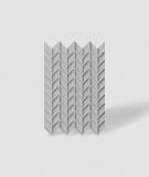 VT - PB49 (S95 jasno szary - gołąbkowy) JODEŁKA - Panel dekor 3D beton architektoniczny