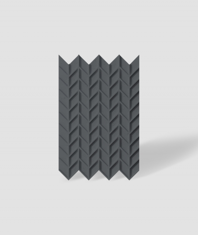 VT - PB49 (B15 black) HERRINGBONE - 3D decorative panel architectural concrete