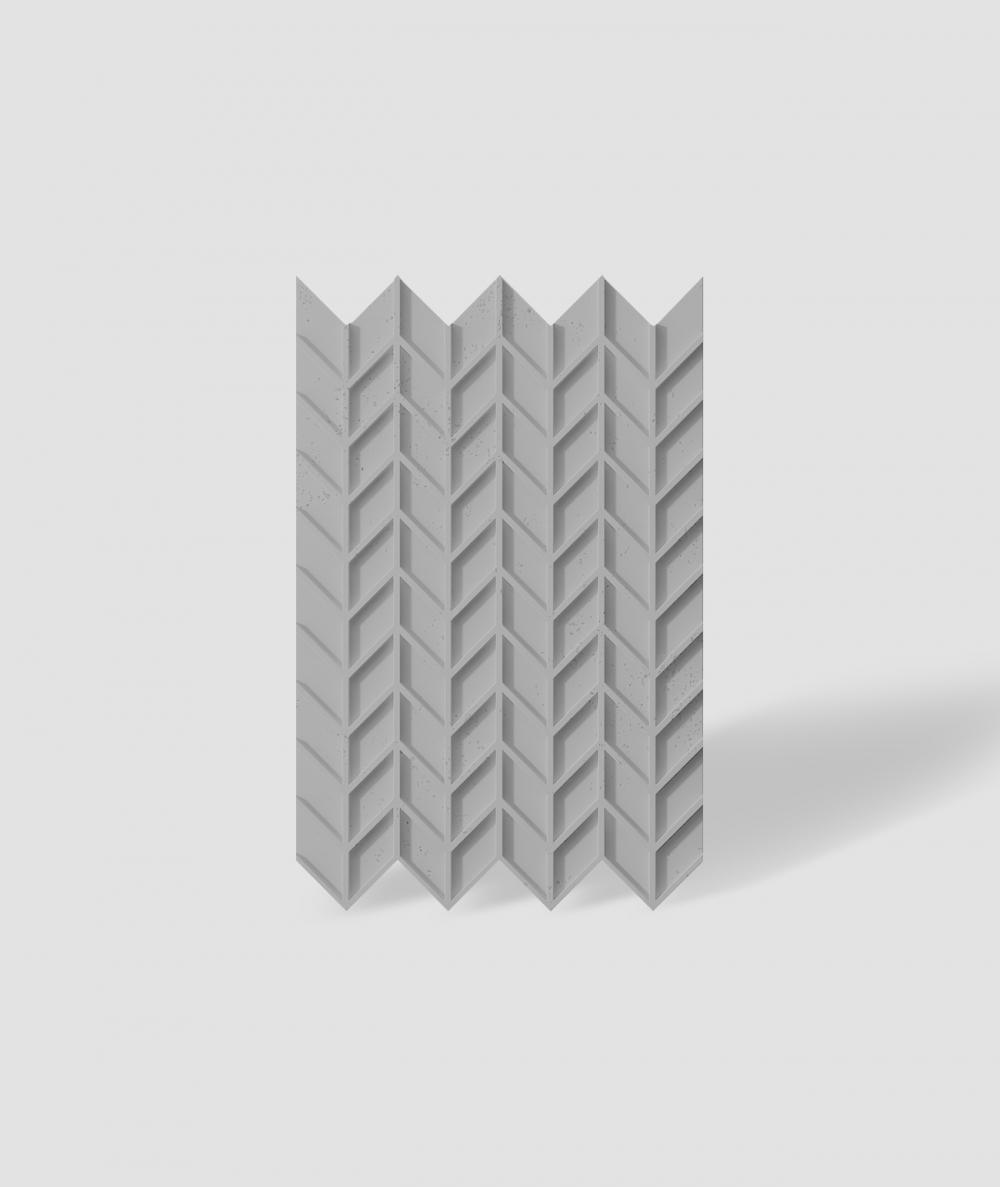 VT - PB49 (S51 dark gray - mouse) HERRINGBONE - 3D decorative panel architectural concrete