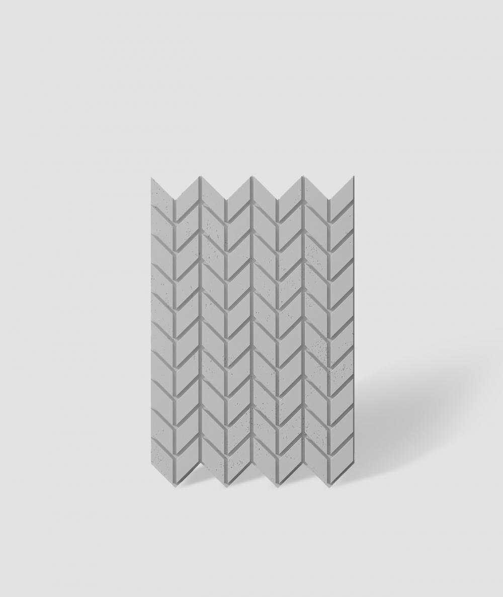 VT - PB48 (S95 light gray - dove) HERRINGBONE - 3D decorative panel architectural concrete