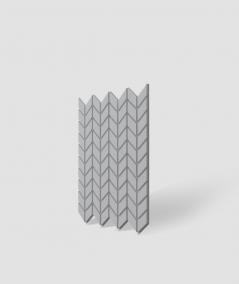 VT - PB48 (S96 dark gray) HERRINGBONE - 3D decorative panel architectural concrete