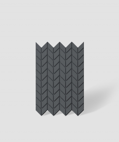 VT - PB48 (B15 black) HERRINGBONE - 3D decorative panel architectural concrete