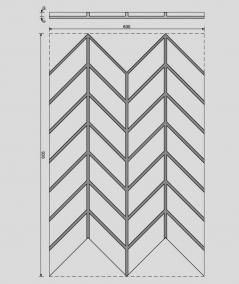 VT - PB47 (B1 gray white) HERRINGBONE - 3D decorative panel architectural concrete