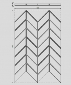 VT - PB47 (S50 light gray - mouse) HERRINGBONE - 3D decorative panel architectural concrete