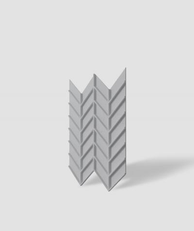 VT - PB47 (S96 dark gray) HERRINGBONE - 3D decorative panel architectural concrete
