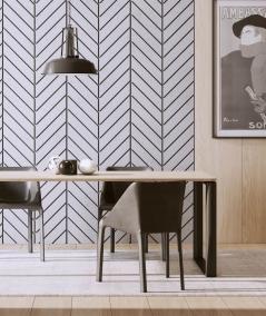VT - PB46 (S96 dark gray) HERRINGBONE - 3D decorative panel architectural concrete