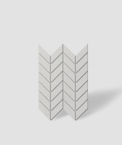 VT - PB46 (B0 white) HERRINGBONE - 3D decorative panel architectural concrete