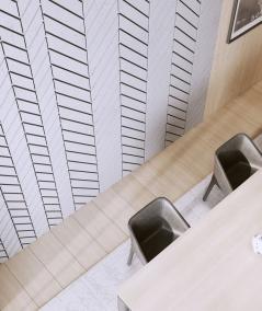 VT - PB46 (S95 light gray - dove) HERRINGBONE - 3D decorative panel architectural concrete