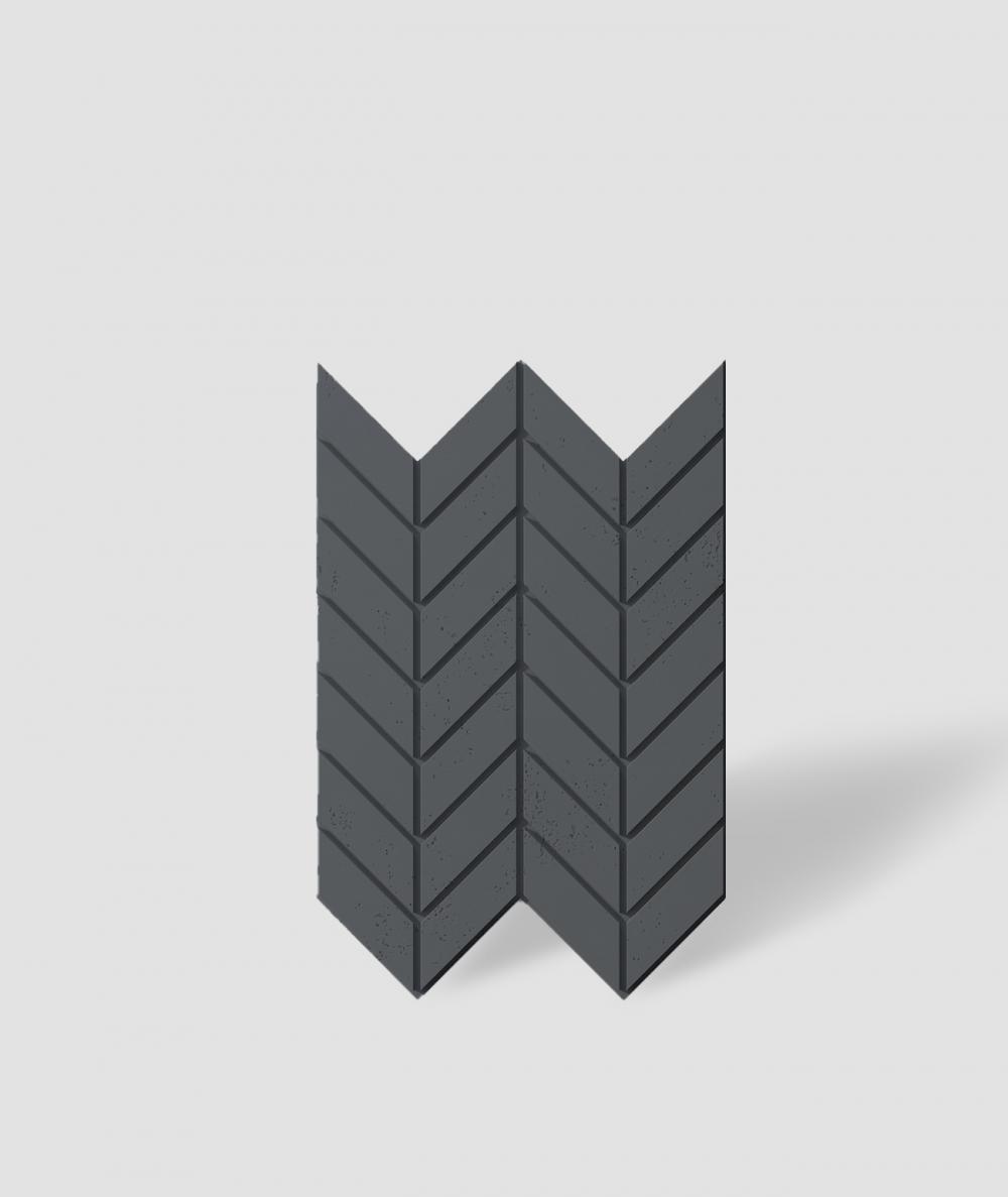 VT - PB46 (B15 black) HERRINGBONE - 3D decorative panel architectural concrete