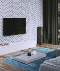 VT - PB45 (S96 dark gray) HERRINGBONE - 3D decorative panel architectural concrete