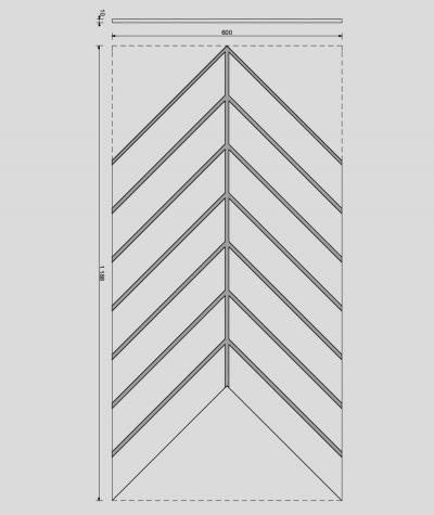VT - PB45 (B8 anthracite) HERRINGBONE - 3D decorative panel architectural concrete