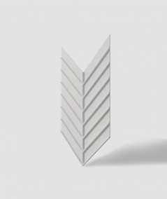 VT - PB45 (B1 gray white) HERRINGBONE - 3D decorative panel architectural concrete