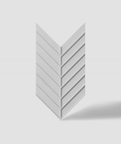 VT - PB45 (S50 light gray - mouse) HERRINGBONE - 3D decorative panel architectural concrete