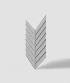 VT - PB45 (S95 light gray - dove) HERRINGBONE - 3D decorative panel architectural concrete