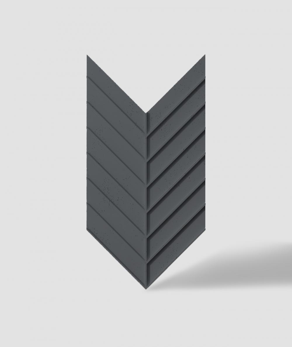 VT - PB45 (B15 black) HERRINGBONE - 3D decorative panel architectural concrete