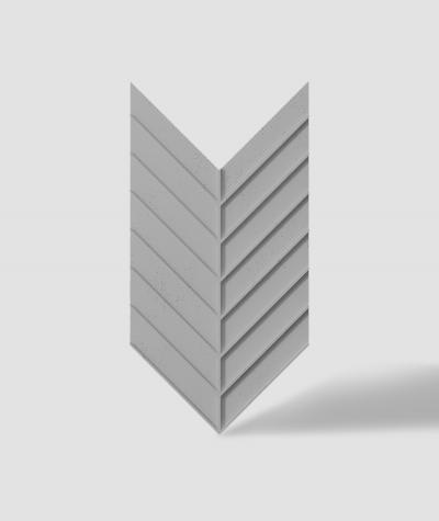 VT - PB45 (S51 dark gray - mouse) HERRINGBONE - 3D decorative panel architectural concrete