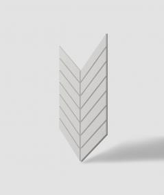 VT - PB44 (B0 white) HERRINGBONE - 3D decorative panel architectural concrete
