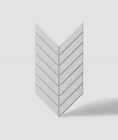 VT - PB44 (B1 gray white) HERRINGBONE - 3D decorative panel architectural concrete