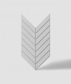 VT - PB44 (S50 light gray - mouse) HERRINGBONE - 3D decorative panel architectural concrete