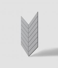 VT - PB44 (S96 dark gray) HERRINGBONE - 3D decorative panel architectural concrete