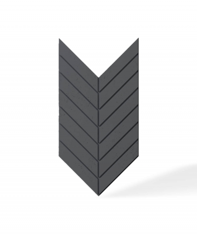 VT - PB44 (B15 black) HERRINGBONE - 3D decorative panel architectural concrete