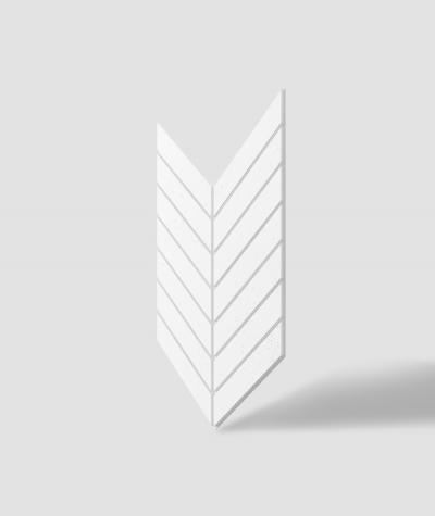 VT - PB44 (BS snow white) HERRINGBONE - 3D decorative panel architectural concrete