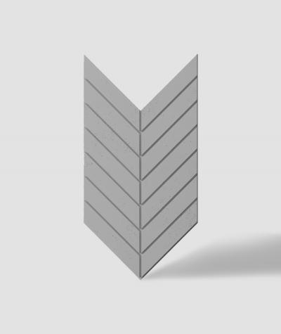 VT - PB44 (S51 dark gray - mouse) HERRINGBONE - 3D decorative panel architectural concrete