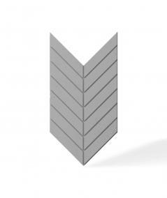 VT - PB44 (S51 ciemno szary - mysi) JODEŁKA - Panel dekor 3D beton architektoniczny