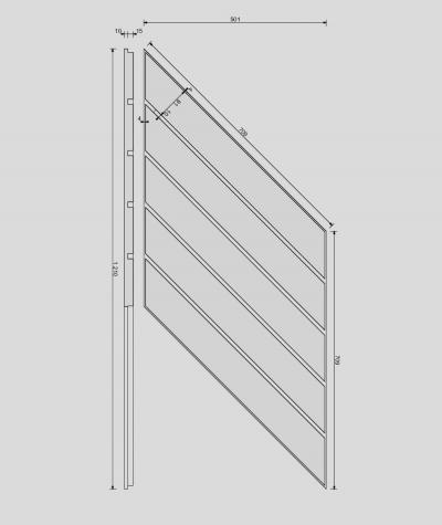 VT - PB43 (B1 gray white) HERRINGBONE - 3D decorative panel architectural concrete