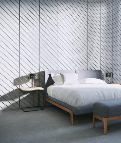 VT - PB43 (S95 light gray - dove) HERRINGBONE - 3D decorative panel architectural concrete