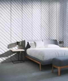 VT - PB43 (S51 dark gray - mouse) HERRINGBONE - 3D decorative panel architectural concrete