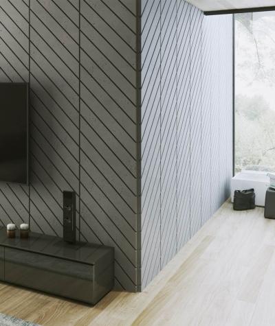 VT - PB43 (S96 ciemny szary) JODEŁKA - Panel dekor 3D beton architektoniczny