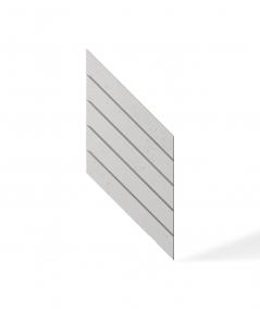 VT - PB43 (B0 white) HERRINGBONE - 3D decorative panel architectural concrete