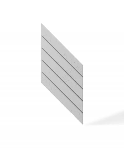 VT - PB43 (S50 light gray - mouse) HERRINGBONE - 3D decorative panel architectural concrete