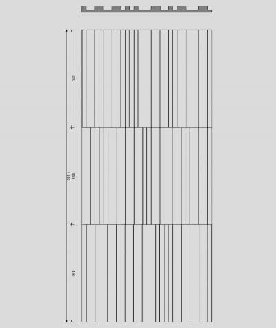VT - PB42 (S50 light gray - mouse) LAMEL - 3D decorative panel architectural concrete