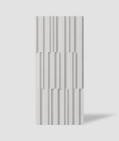 VT - PB42 (B1 siwo biały) LAMEL - Panel dekor 3D beton architektoniczny