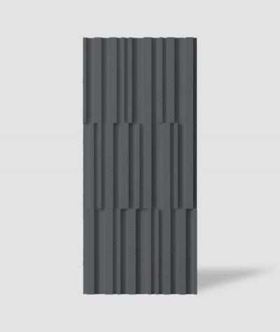 VT - PB42 (B15 czarny) LAMEL - Panel dekor 3D beton architektoniczny